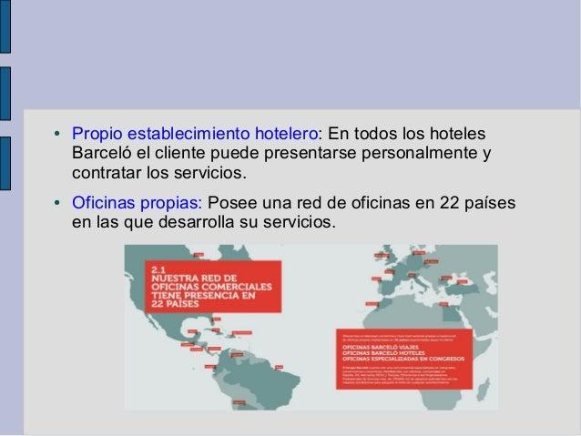 Marketing barcel hoteles resorts canales de distribuci n for Oficina barcelo viajes