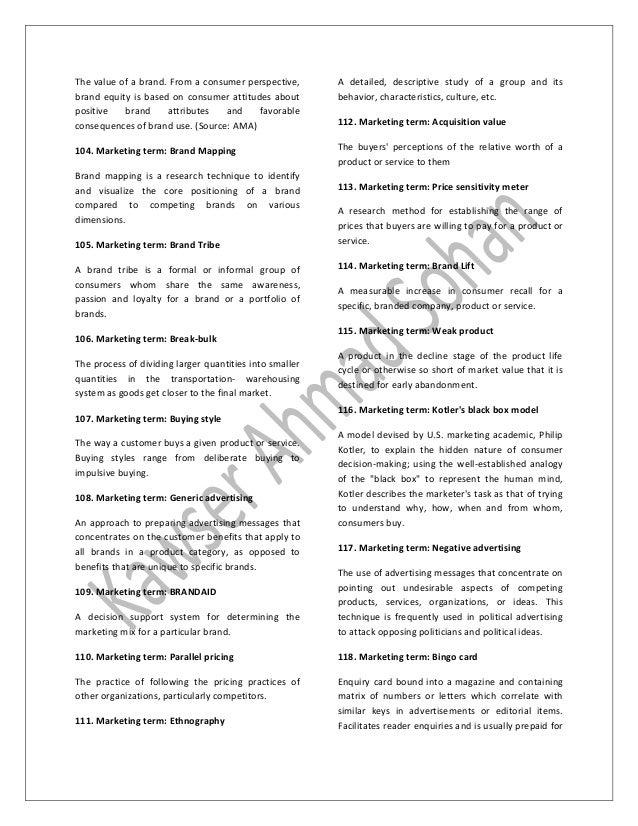 107 Marketing Terms