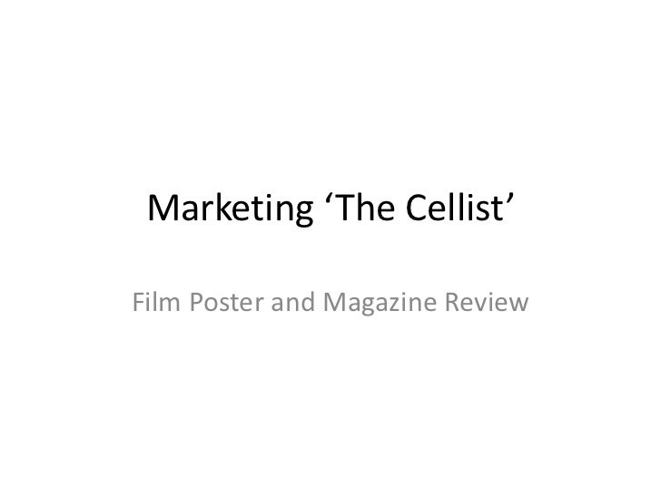 Marketing 'The Cellist'<br />Film Poster and Magazine Review<br />