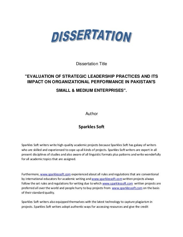 dissertation report pharmaceutical industry
