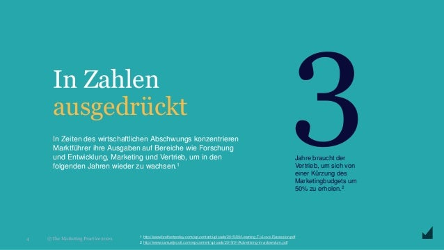 © The Marketing Practice 2020 In Zahlen ausgedrückt 4 In Zeiten des wirtschaftlichen Abschwungs konzentrieren Marktführer ...