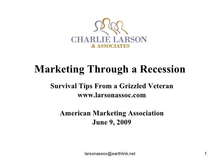 Marketing Through a Recession Survival Tips From a Grizzled Veteran www.larsonassoc.com American Marketing Association Jun...