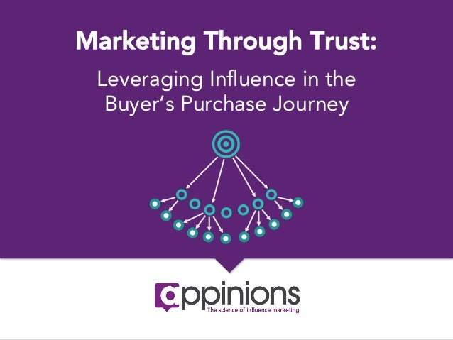 Copyright © 2013 Appinions. All rights reserved.Marketing Through Trust:Leveraging Influence in theBuyer's Purchase Journey