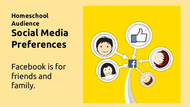Homeschool Audience Social Media Preferences Facebook is for friends and family.