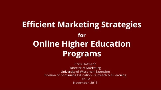 Marketing strategy for university