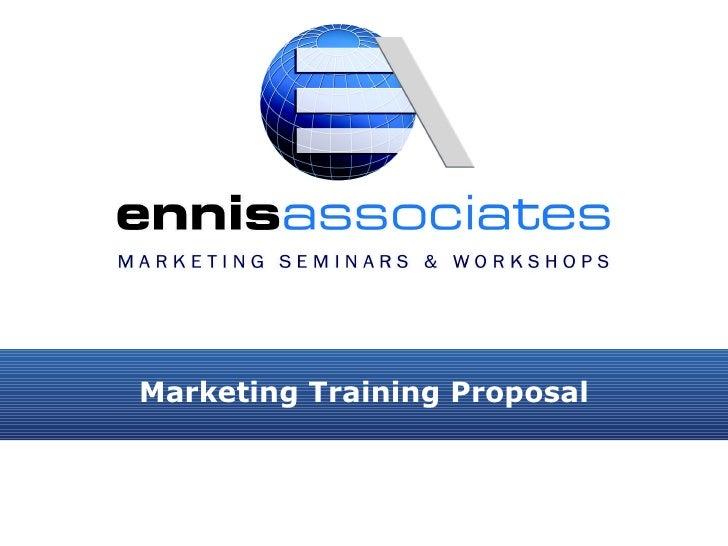 Marketing Training Proposal