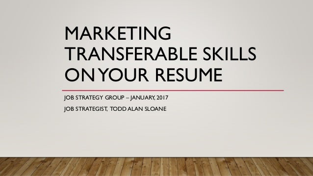marketing transferable skills on your resume