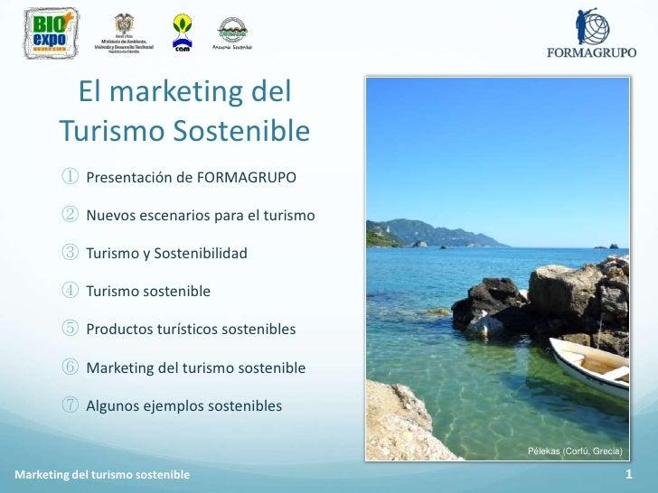 Marketing del turismo sostenible Slide 2