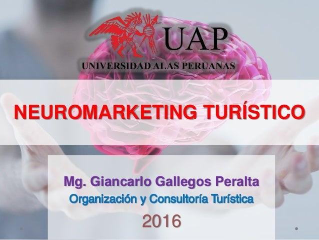 NEUROMARKETING TURÍSTICO Mg. Giancarlo Gallegos Peralta 2016