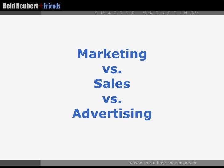 Marketing vs. Sales vs. Advertising