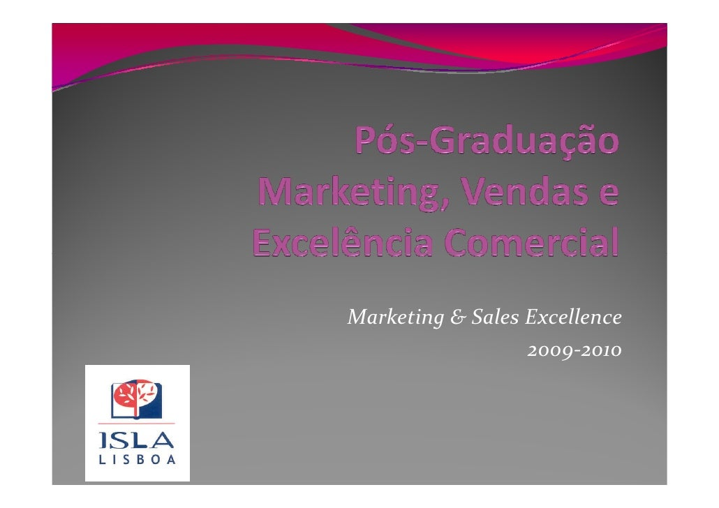 Marketing & Sales Excellence                   2009-2010