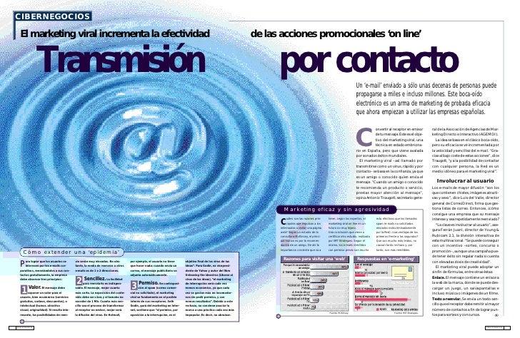 CIBERNEGOCIOS    El marketing viral incrementa la efectividad                                                             ...