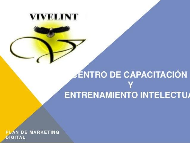 CENTRO DE CAPACITACIÓN Y ENTRENAMIENTO INTELECTUA PLAN DE MARKETING DIGITAL