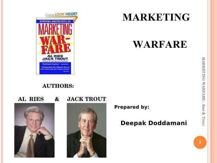 <ul><li>MARKETING  </li></ul><ul><li>WARFARE  </li></ul><ul><li>Prepared by: </li></ul><ul><li>Deepak Doddamani </li></ul>...