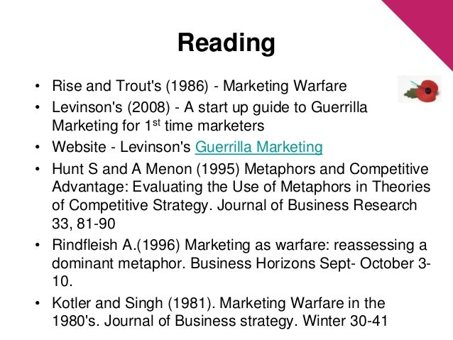 kotler and singh marketing warfare Philip kotler - chapter i peace marketing i warfare marketing any incursion with analytical objectives targeted in the space of.