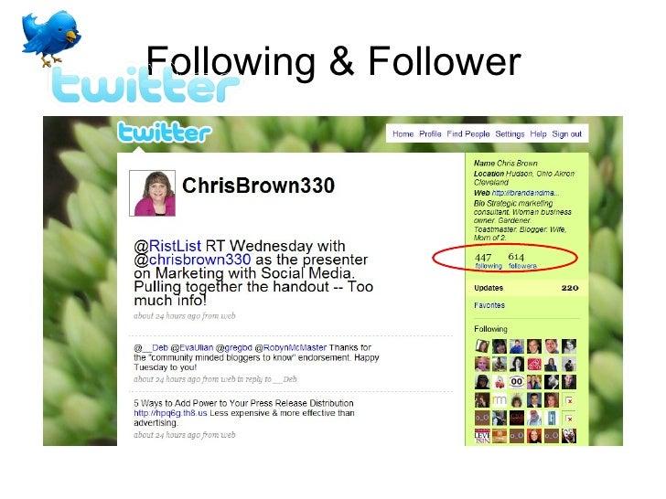Following & Follower