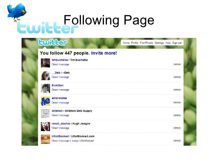Following Page