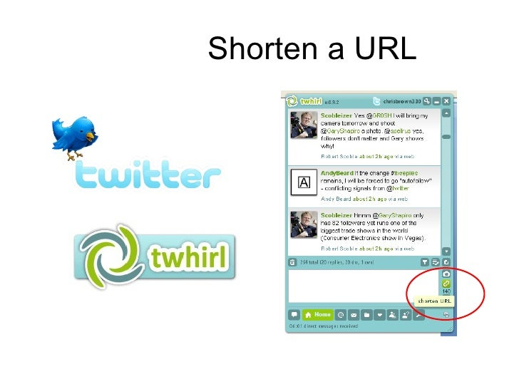 Shorten a URL