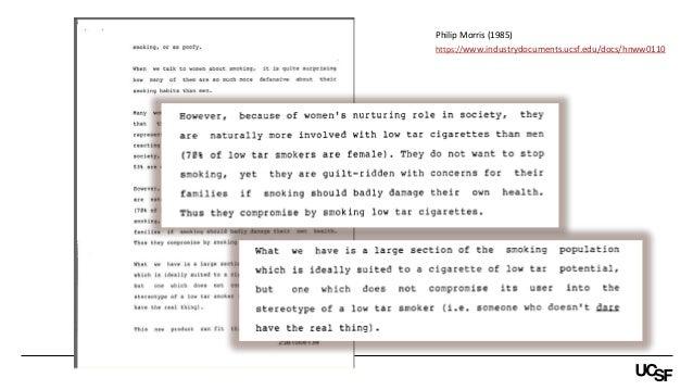 Philip Morris (1985) https://www.industrydocuments.ucsf.edu/docs/hnww0110