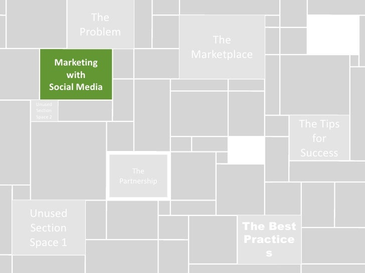 The Problem<br />The Marketplace<br />Marketing <br />with <br />Social Media<br />Unused Section Space 2<br />The Tips fo...