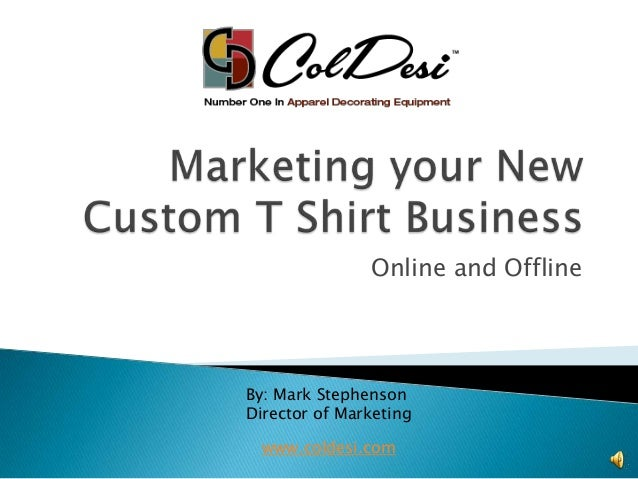 Custom apparel business plan