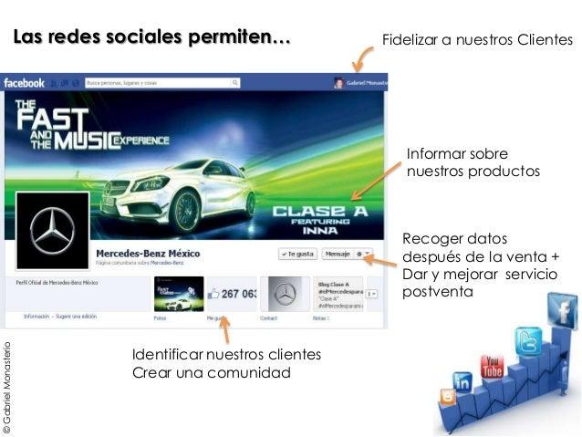 Recoger datos después de la venta + Dar y mejorar servicio postventa Las redes sociales permiten… Identificar nuestros cli...