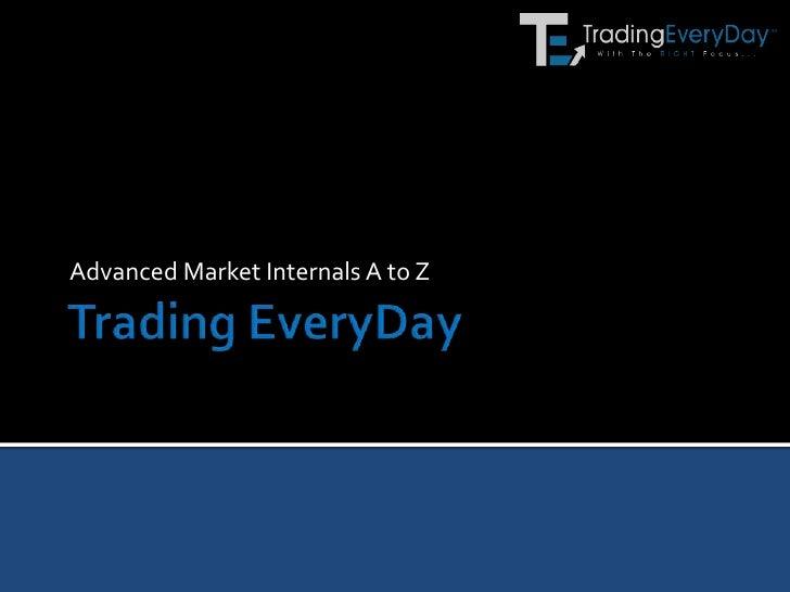 Advanced Market Internals A to Z