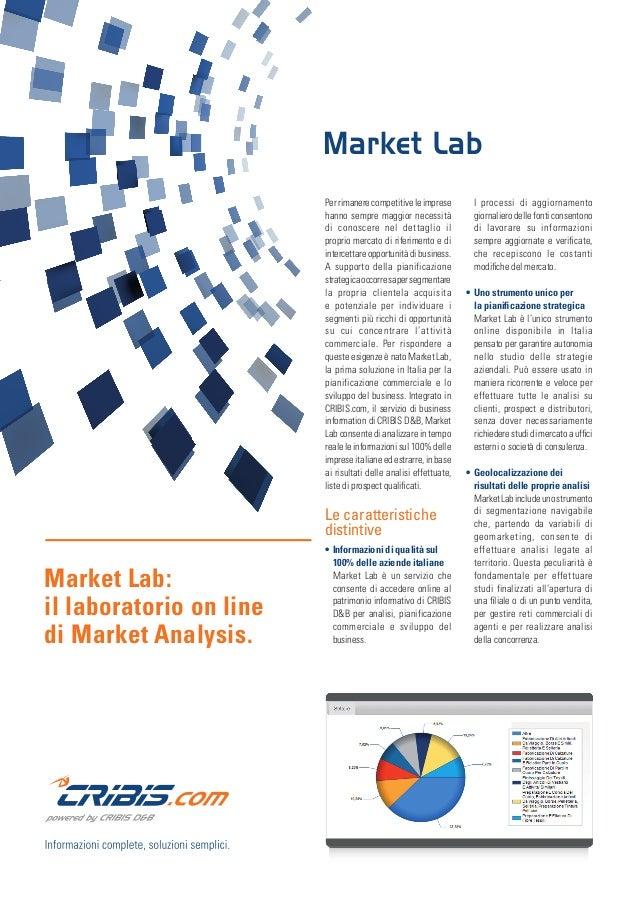 Market Lab: il laboratorio on line di Market Analysis. Perrimanerecompetitiveleimprese hanno sempre maggior necessità di c...