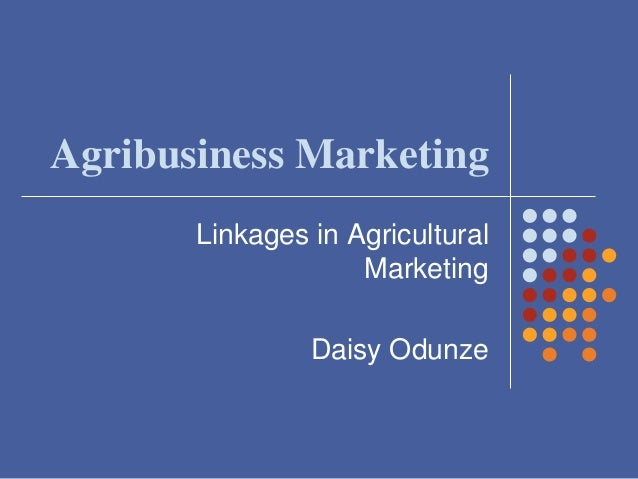 linkages in agricultural marketing pdf