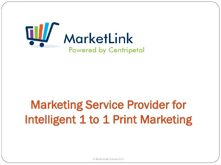 Marketing Service Provider forIntelligent 1 to 1 Print Marketing             © MarketLink Systems LLC