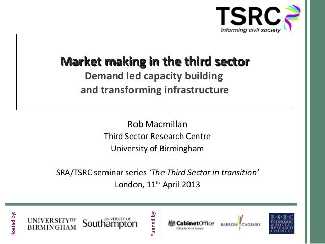Market making in the third sectorMarket making in the third sectorDemand led capacity buildingand transforming infrastruct...