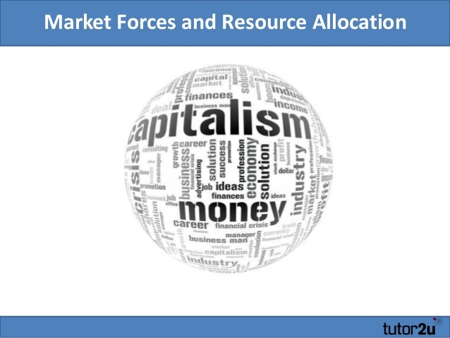 Market Forces and Resource Allocation Geoff Riley, Tutor2u