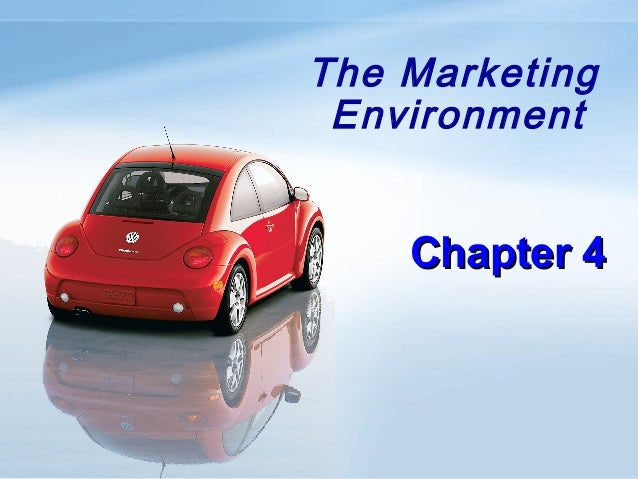 The Marketing Environment Chapter 4Chapter 4