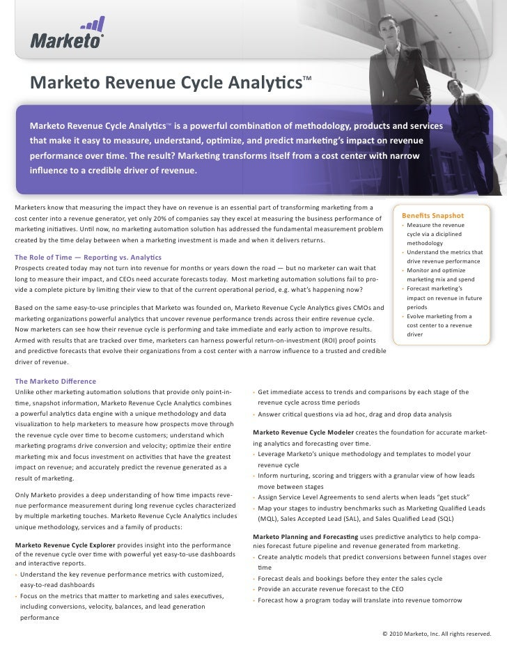 Marketo Revenue Cycle Analytics                                                             TM     Marketo Revenue Cycle A...