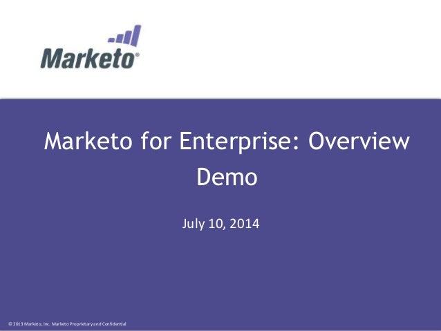 Marketo for Enterprise: Overview Demo