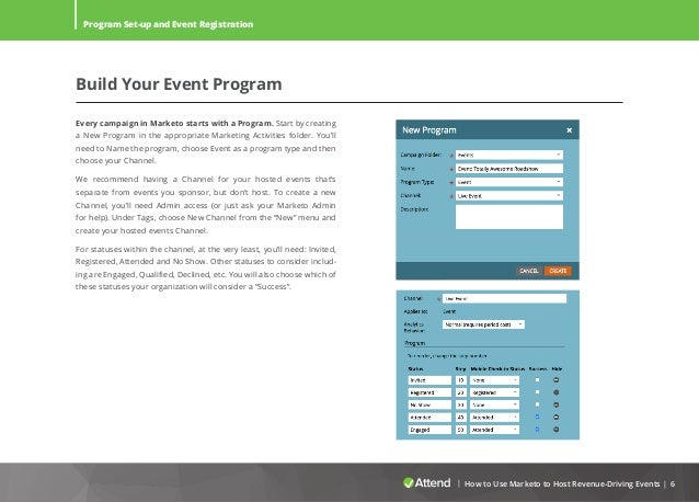 how to use marketo for events