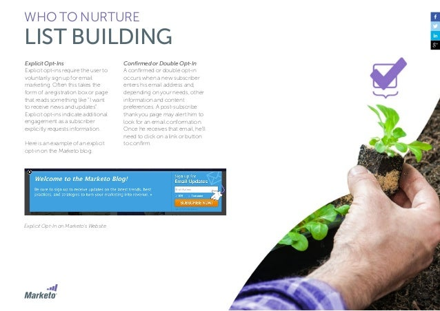 44 WHO TO NURTURE LIST BUILDING Maintain Your List It's not enough to build a list for lead nurturing, you also need to ma...