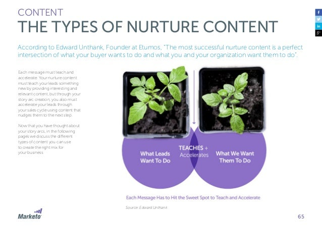 66 CONTENT THE TYPES OF NURTURE CONTENT Original Content Original content is content that you create. It's yours, and only...
