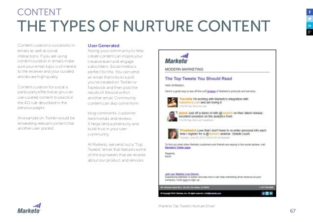 68 CONTENT THE ANATOMY OF A LEAD NURTURE EMAIL Of the emails that you send and receive, you'll notice that you can identif...