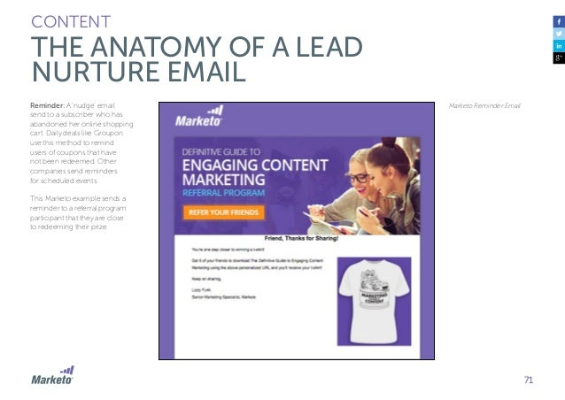 72 CONTENT EMAIL CREATION BEST PRACTICES Subject Line The subject line of an email is one of the first things a recipient ...