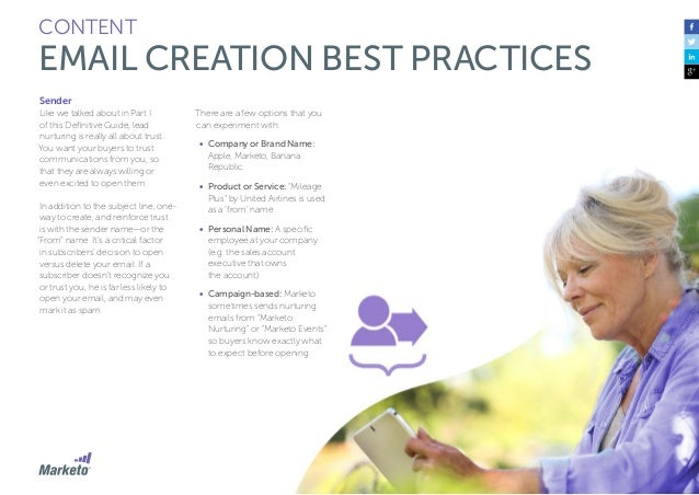 75 CONTENT EMAIL CREATION BEST PRACTICES The Body You've got your buyer to open your nurture email—that's an awesome first...