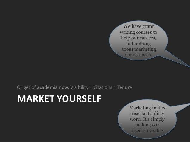 Market or perish - Academic SEO Slide 3