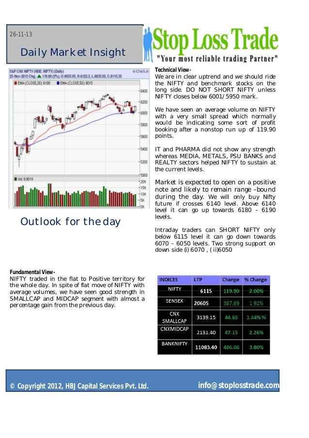 26-11-13  Daily Market Insight Technical ViewWe are in clear uptrend and we should ride the NIFTY and benchmark stocks on ...