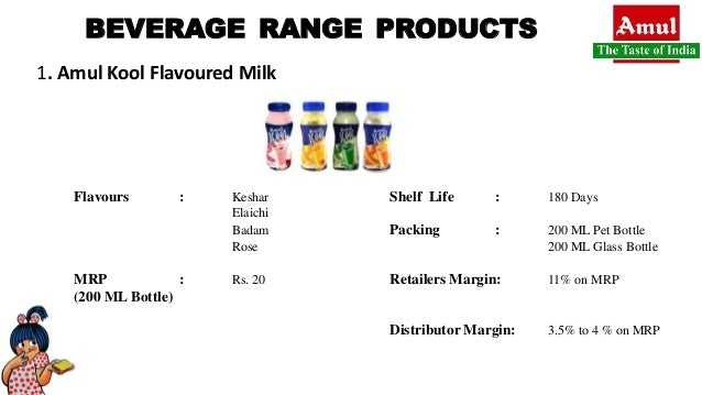 Market penetration of amul beverage range products by
