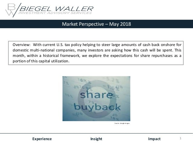 Market Perspective – May 2018 Experience Insight Impact Overview: With current U.S. tax policy helping to steer large amou...