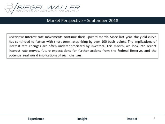 Market Perspective – September 2018 Experience Insight Impact Overview: Interest rate movements continue their upward marc...