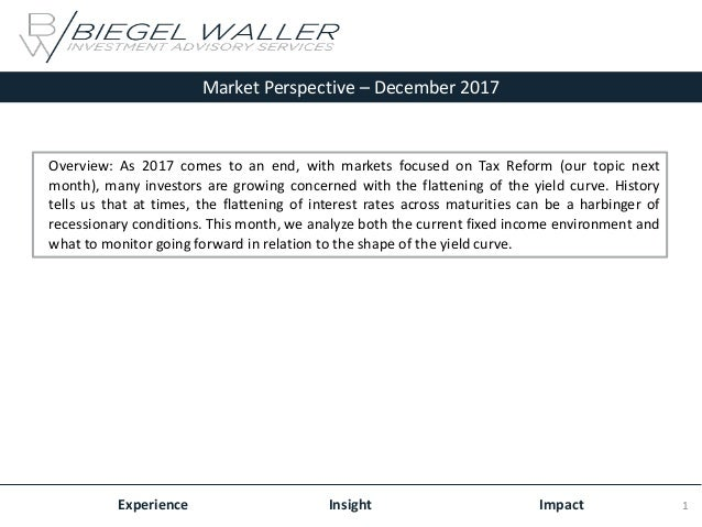 Market Perspective – December 2017 Experience Insight Impact Overview: As 2017 comes to an end, with markets focused on Ta...