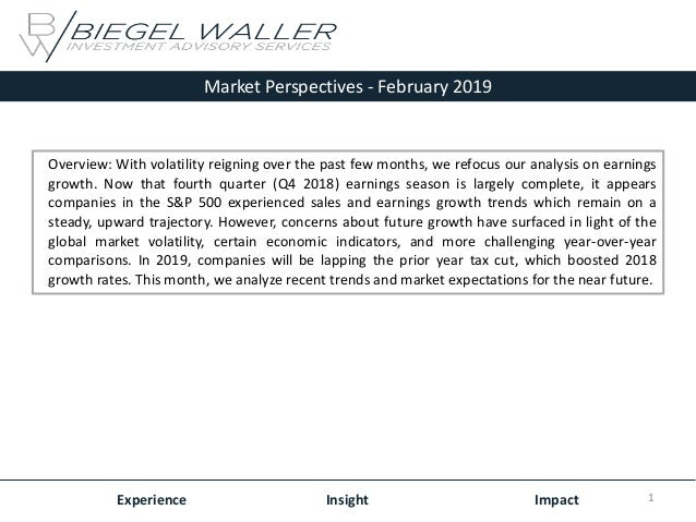 Market Perspectives - February 2019 Experience Insight Impact Overview: With volatility reigning over the past few months,...