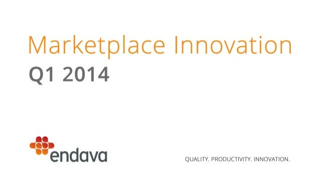Marketplace Innovation Report | Q1 2014