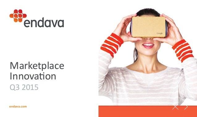 endava.com Marketplace Innovation Q3 2015
